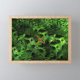 nature frequency - festival green tune Framed Mini Art Print