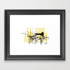 Tá tudo aqui Cara Framed Art Print