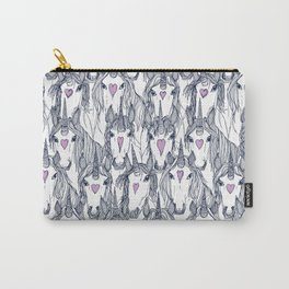 unicorn love navy orchid Carry-All Pouch