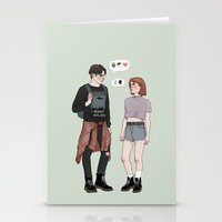 college Stationery Cards featuring X-Files College AU by vulcains