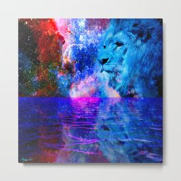 BEHOLD THE LION OF JUDAH Metal Print
