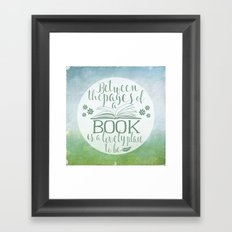 Between the Pages of a Book - Green Spring Framed Art Print