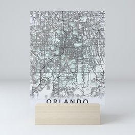 Orlando FL USA White City Map Mini Art Print