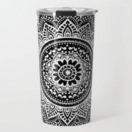 black white mandala Travel Mug