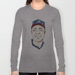 Hammerin' Hank Aaron Long Sleeve T-shirt