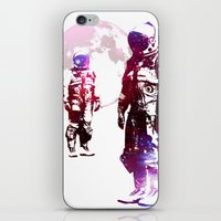 men iPhone & iPod Skins featuring Space Men by rubbishmonkey