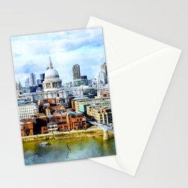 st-paul-s-london-millenium-bridge Stationery Cards