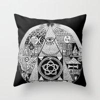 illuminati Throw Pillows featuring Illuminati by SAMMO