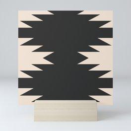 Minimal Southwestern - Charcoal Mini Art Print