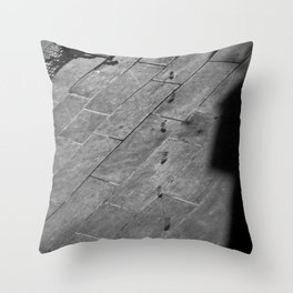 Footsteps to Sarajevo Throw Pillow