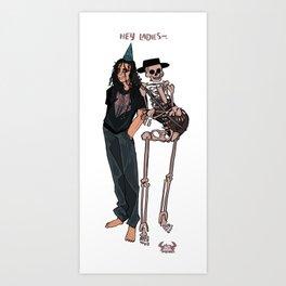 Spooky Skeleton Support Squad Art Print