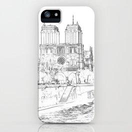 Illustration of Notre Dame de Paris iPhone Case