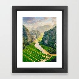 Vietnam Paddy Fields Fine Art Print  • Travel Photography • Wall Art Framed Art Print