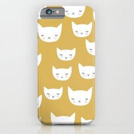 Sweet sleepy kitty cats kawaii baby animals kids pattern iPhone Case