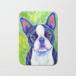 Colorful Boston Terrier Dog Bath Mat