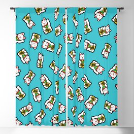 Lucky Cat Pattern Blackout Curtain