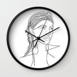Line Art Woman Wall Clock