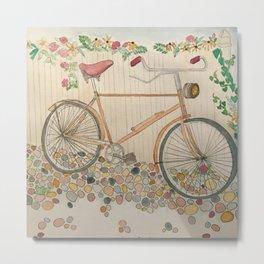 Cobblestone bike Metal Print