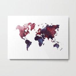 world map art 3 Metal Print