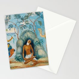 Krishna and the Maidens Stationery Cards
