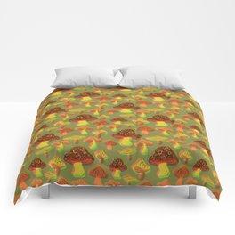 Mushroom Print in 3D Comforters