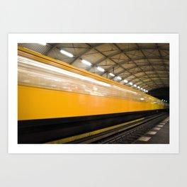 Berlin Subway Art Print
