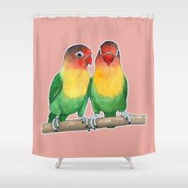 Fischer's lovebirds Shower Curtain
