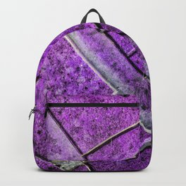 Very Distressed Gothic Grunge Shattered Glass Close Up Abstract Backpack