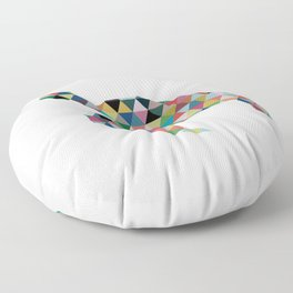 Colorful Geometric Turtle Floor Pillow