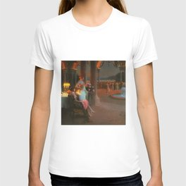 Classical Masterpiece 'Evening on the Terrace' by Delphin Enjolras T-shirt