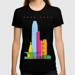Shapes of Hong Kong. Accurate to scale T-shirt