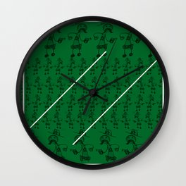The sheriff the wildwest and the Pencil Wall Clock