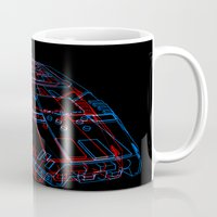 battlestar galactica Mugs featuring Classic Galactica 3D by Billy Allison