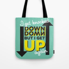 Knocked Down Tote Bag