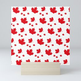 Canada Maple Leaf-Large-White Mini Art Print
