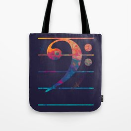 Bass Clef Color Tote Bag