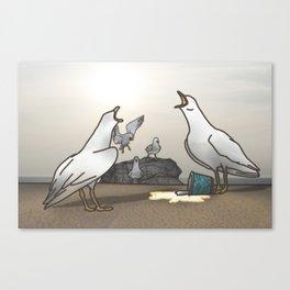Seagulls Scavenge Canvas Print