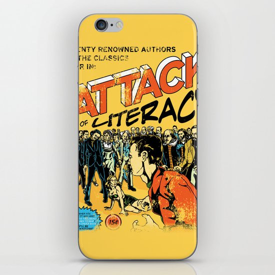 Attack of Literacy iPhone & iPod Skin