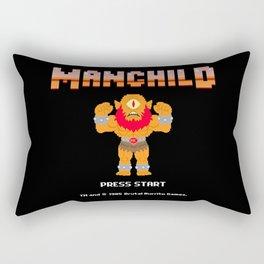 8Bit Manchild Rectangular Pillow