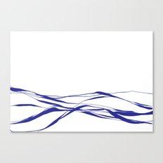 A Bottomless Sea No. 2 Blue Canvas Print