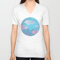 cloud V-neck T-shirts featuring Cloud  by Tony Vazquez