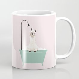 Llama Enjoying Bubble Bath Coffee Mug