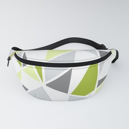 Geometric Pattern in Lime, Yellow, Gray Fanny Pack