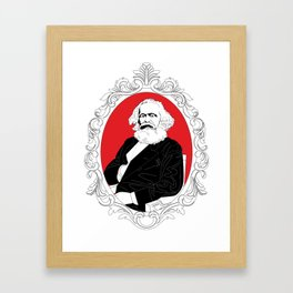 Roses Are Red And So Is The State Framed Art Print