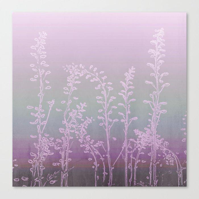 WILDFLOWERS - PINK GARDEN Canvas Print
