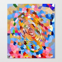 Funky Ripples Canvas Print