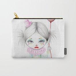 Sad little girl clown Carry-All Pouch