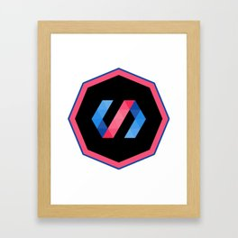 polymer javascript framework library  sticker polymerjs sticker Framed Art Print