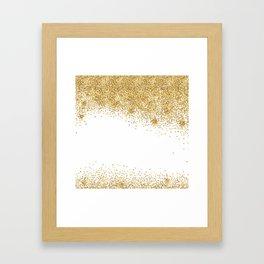 Sparkling golden glitter confetti effect Framed Art Print