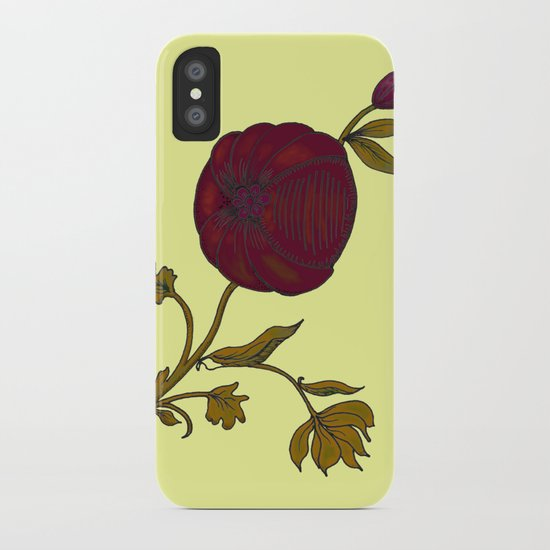 simple decorative pomegranate 3 iPhone Case
